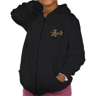 Apples On A Tree Girls Hoodie