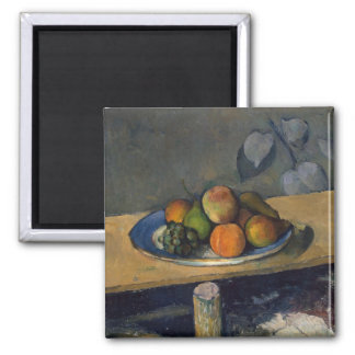 Apples, Pears and Grapes, c.1879 Square Magnet