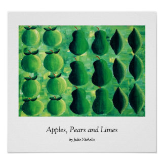 Apples, Pears and Limes Print