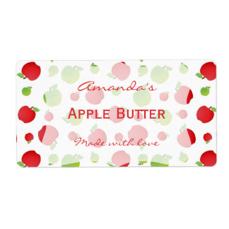 Apples Personalized Canning Label