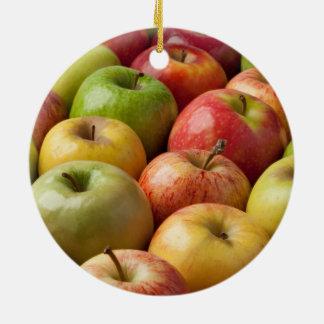 Apples - Ripe & Colorful Round Ceramic Decoration