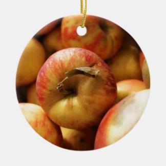 Apples Round Ceramic Decoration