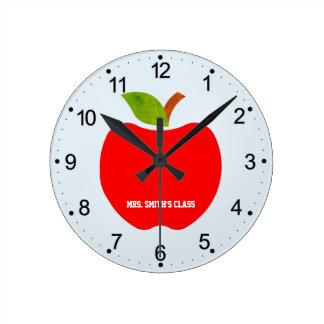 Apples Round Clock