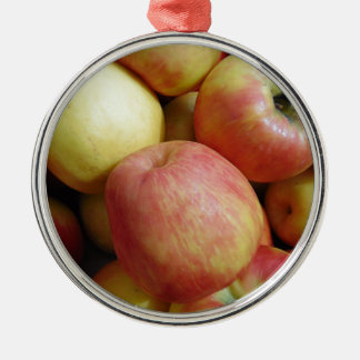 Apples Silver-Colored Round Decoration