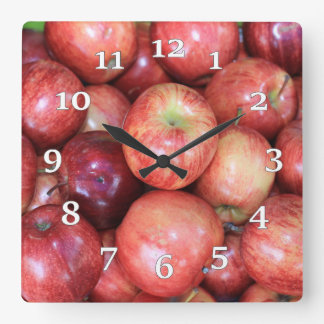Apples Square Wall Clock