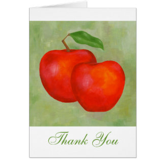 Apples Thank You notecard Greeting Card