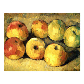 Apples Vintage Impressionism Cezanne Postcard