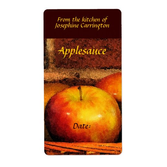 Applesauce Labels