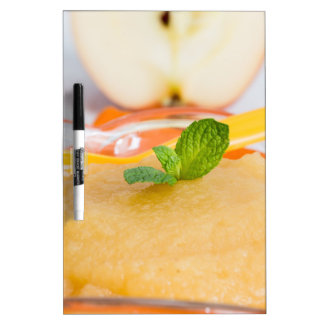 Applesauce with cinnamon and orange spoon Dry-Erase board