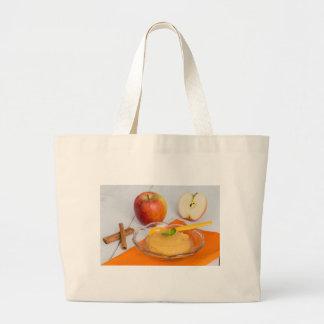 Applesauce with cinnamon and orange spoon jumbo tote bag