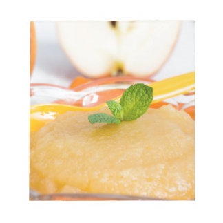 Applesauce with cinnamon and orange spoon memo pad