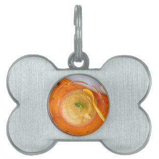 Applesauce with cinnamon and orange spoon pet tag