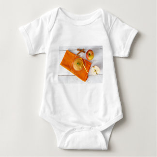Applesauce with cinnamon and orange spoon shirt