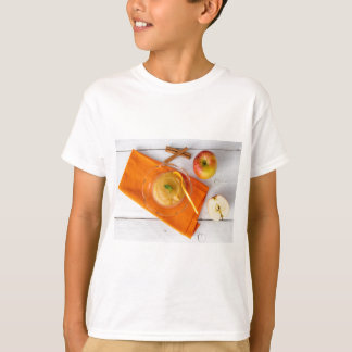 Applesauce with cinnamon and orange spoon t shirts