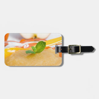 Applesauce with cinnamon and orange spoon travel bag tag