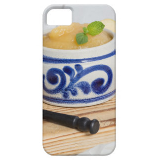 Applesauce with cinnamon in stoneware bowl case for the iPhone 5
