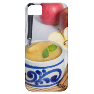 Applesauce with cinnamon in stoneware bowl iPhone 5 case