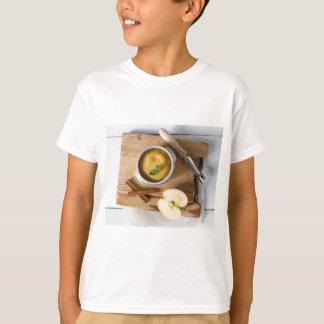 Applesauce with cinnamon in stoneware bowl tee shirt