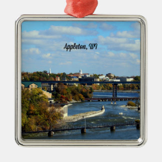 Appleton, Wisconsin landscape photograph Metal Ornament