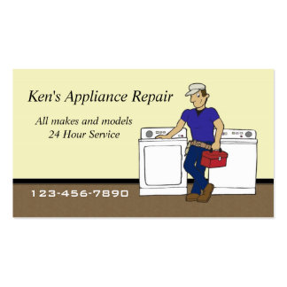 Appliance repair business cards 95 appliance repair for Appliance repair business cards