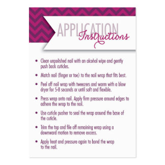 Application Instructions/7 Day Challenge Cards Pack Of Chubby Business Cards