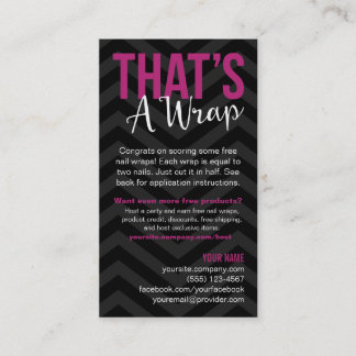 Application Instructions Business Cards
