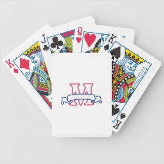 Applique Banner M Bicycle Playing Cards