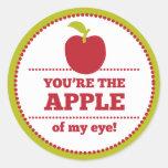 Apply of My Eye Fruit Valentine Round Sticker