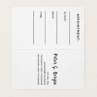Appointment  Add Your Logo  Brand Company Business Card