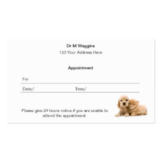Appointment Card Double-Sided Standard Business Cards (Pack Of 100)