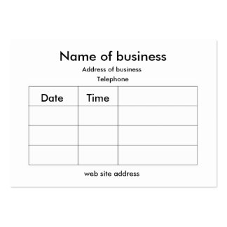 Appointment card business cards