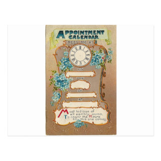 Appointment card postcard