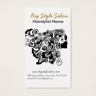 Appointment Curl Hair Salon Drawing Makeup Artist Business Card
