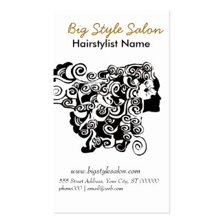 Appointment Curl Hair Salon Drawing Makeup Artist Pack Of Standard Business Cards