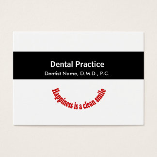 Appointment Dentistry Medical Black Middle Band Business Card