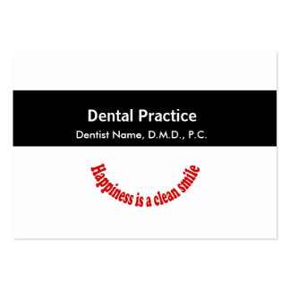 Appointment Dentistry Medical Black Middle Band Pack Of Chubby Business Cards
