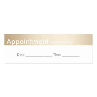 Appointment Reminder Classy Gold Border Pack Of Skinny Business Cards