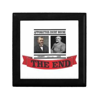 Appomattox the end small square gift box
