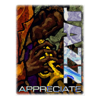 Appreciate Jazz Postcard