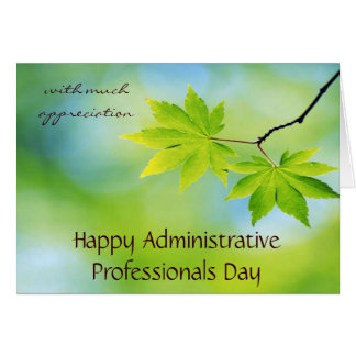 Appreciation for Administrative Professionals Day Card