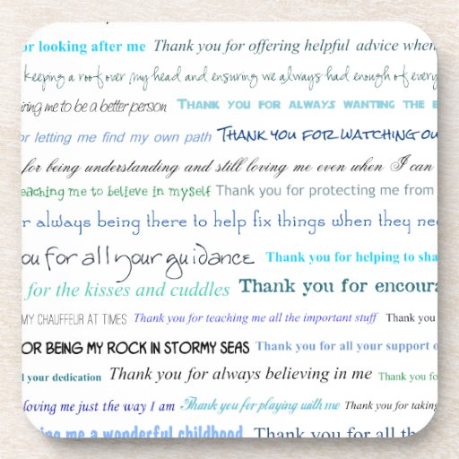 Appreciation series - Thank you dad for... Beverage Coasters