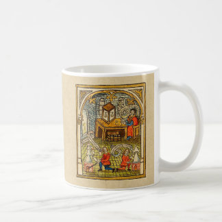 Apprentices in a Medieval Laboratory Coffee Mug