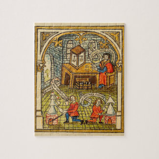 Apprentices in a Medieval Laboratory Jigsaw Puzzle