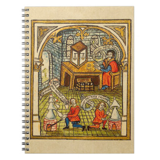 Apprentices in a Medieval Laboratory Spiral Notebook