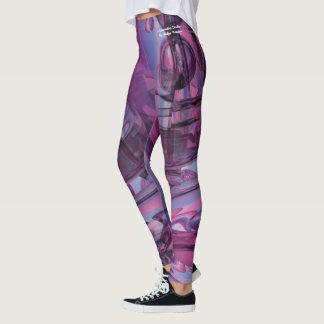 Approaching Destiny abstract leggings, purple pink Leggings