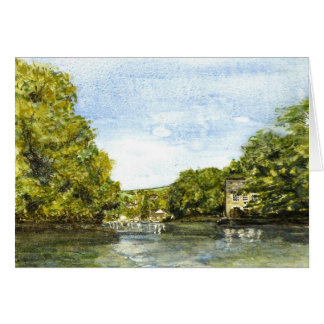 'Approaching Lerryn' Card