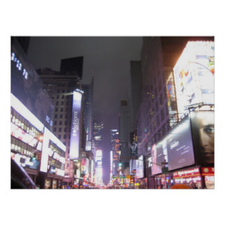 Approaching Times Square, New York NY Poster