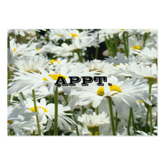 APPT. cards Business Services custom Daisy Flowers Business Card Template