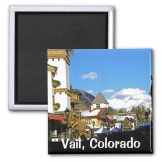 Apres Ski in Vail Square Magnet
