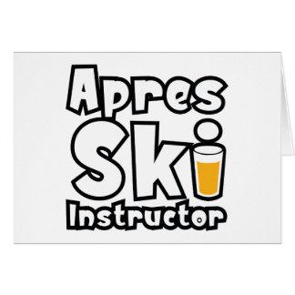 Apres Ski Instructor Card